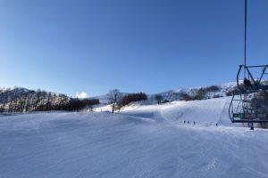 1月中旬 ハチ高原のゲレンデの様子
